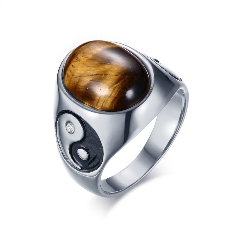 11393 bb0cf90cbeaffeb18bdebeab7a9e4f62 - Tiger Eye Stone Yin Yang Symbol Ring