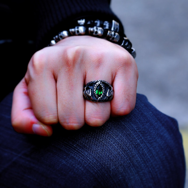 BEIER Animal product Aragorn II Barahir snake Stainless Steel One Ring Of Power Men jewelry Fashion 1 - Aragorn Barahir Ring
