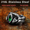BEIER Animal product Aragorn II Barahir snake Stainless Steel One Ring Of Power Men jewelry Fashion 2 100x100 - Aragorn Barahir Ring