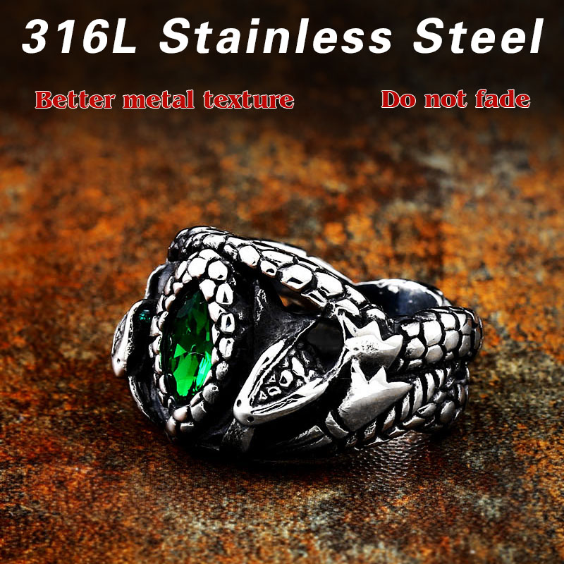 BEIER Animal product Aragorn II Barahir snake Stainless Steel One Ring Of Power Men jewelry Fashion 2 - Aragorn Barahir Ring