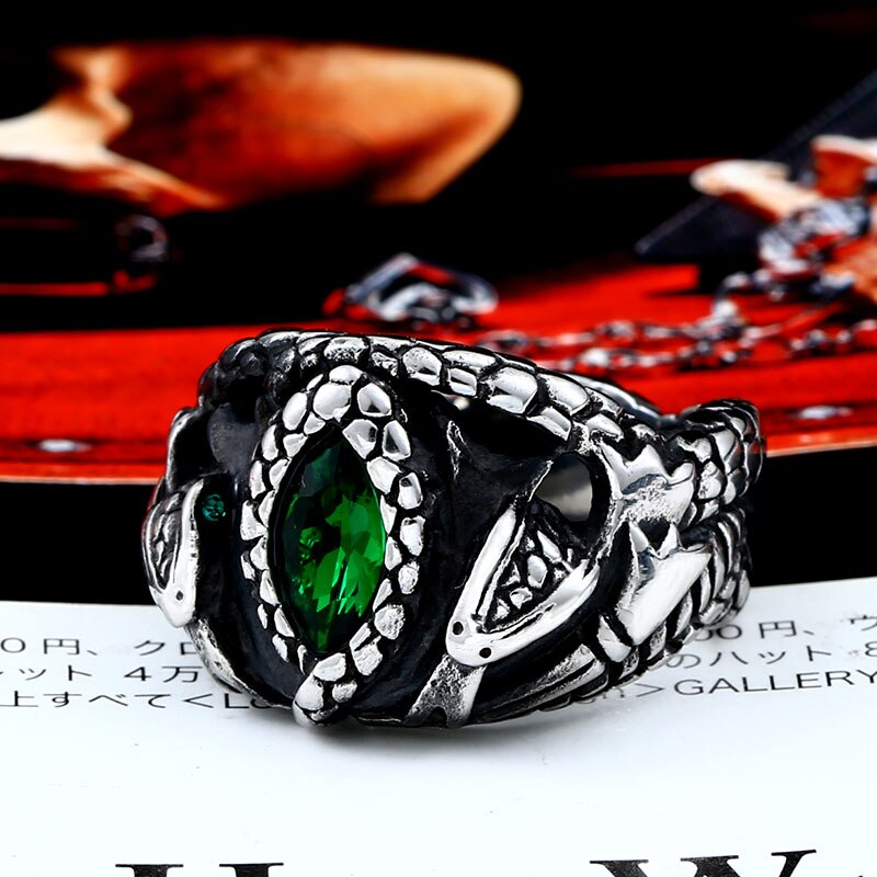 BEIER Animal product Aragorn II Barahir snake Stainless Steel One Ring Of Power Men jewelry Fashion 3 - Aragorn Barahir Ring