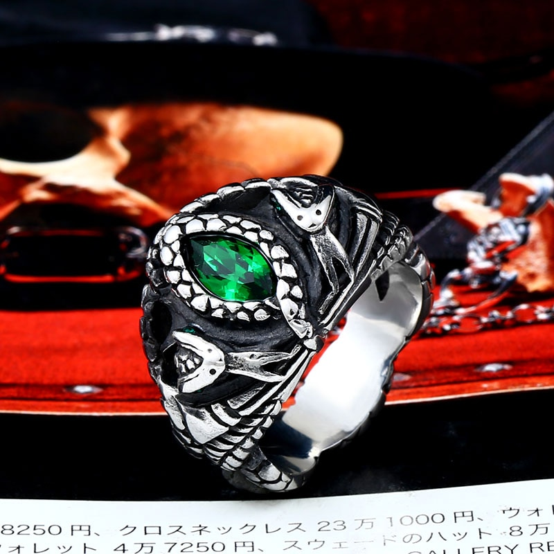 BEIER Animal product Aragorn II Barahir snake Stainless Steel One Ring Of Power Men jewelry Fashion 4 - Aragorn Barahir Ring
