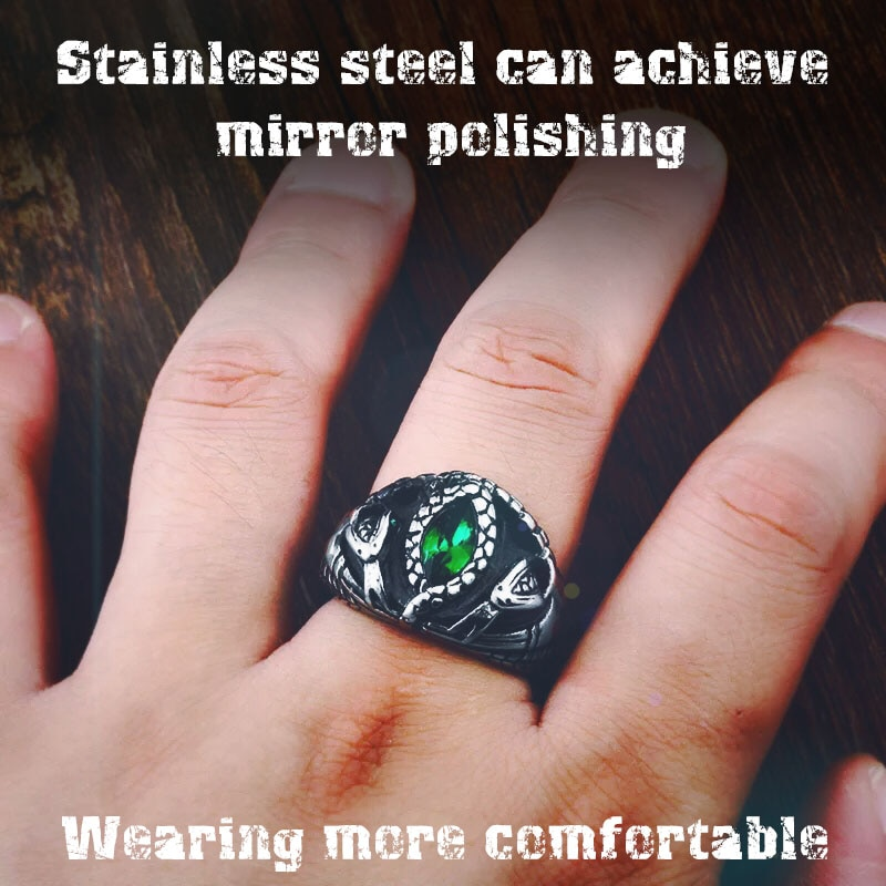 BEIER Animal product Aragorn II Barahir snake Stainless Steel One Ring Of Power Men jewelry Fashion 5 - Aragorn Barahir Ring