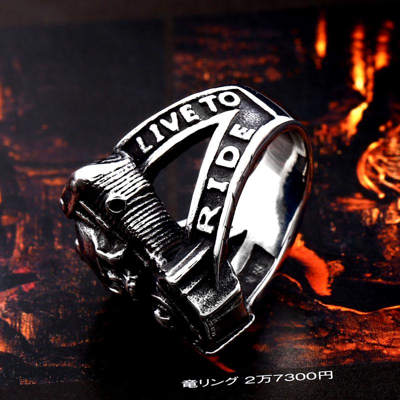 BEIER new arrive 316L Stainless Steel ring high quality Punk skull biker for men fashion Jewelry 3 - Biker Skull Ring