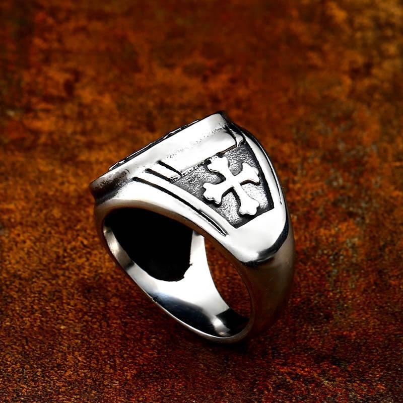 Beier 316L Stainless Steel Letter faith cross Jesus St Benedict s Exorcism for men wholesale ring 5 - St. Benedict's Exorcism Ring