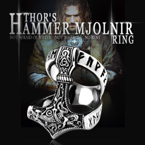 Beier Stainless Steel Norse Viking Nordic Myth thor hammer High Quality fashion wholesale ring fashion jewelry 300x300 - Thor's Mjolnir Hammer