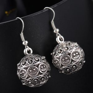 IF ME New Ball Antique Silver Color Vintage Earrings Fashion Jewelry Women Drop Minimalist Long Dangle 300x300 - Iconic Ring
