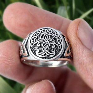 Yggdrasil stainless steel ring 300x300 - Yggdrasil Celtics Ring