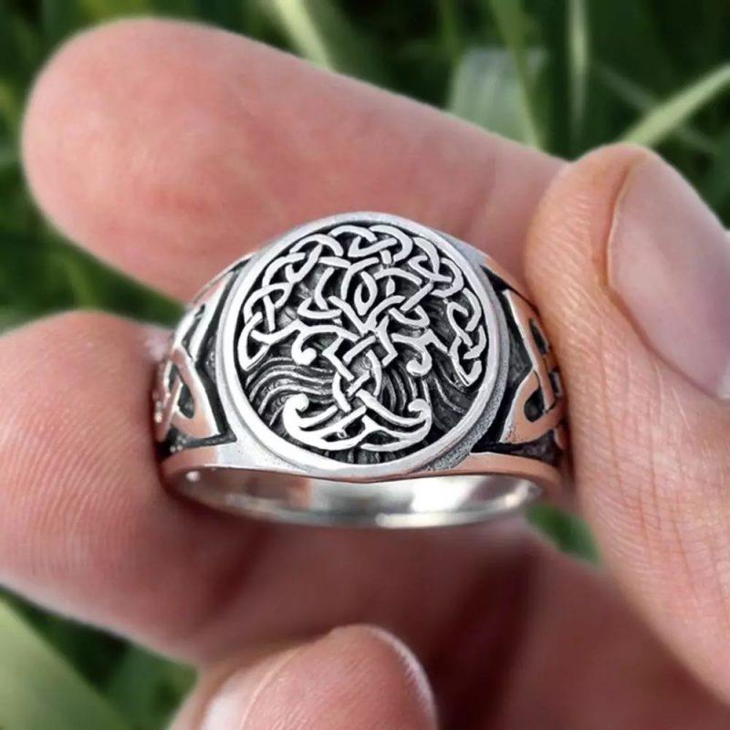 Yggdrasil stainless steel ring 800x800 - Yggdrasil Celtics Ring