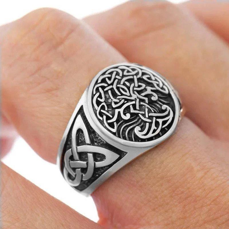 Yggdrasil stainless steel ring2 - Yggdrasil Celtics Ring